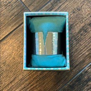 Rustic Cuff silver bracelet